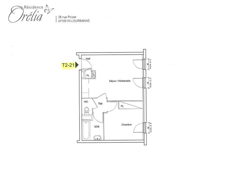 A LOUER - ViILLEURBANNE GRAND CLÉMENT  T2 AVEC GARAGE BOX FERMÉE